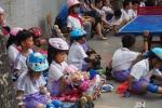 School Children Seated