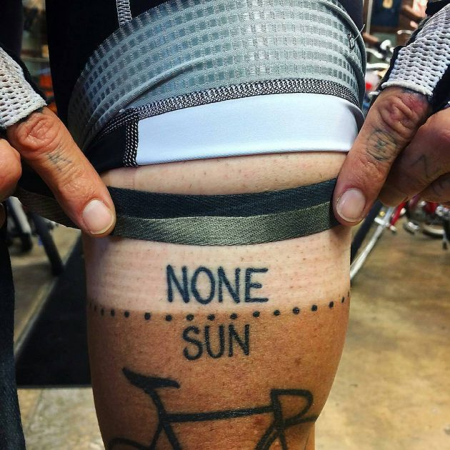 cycling tan line